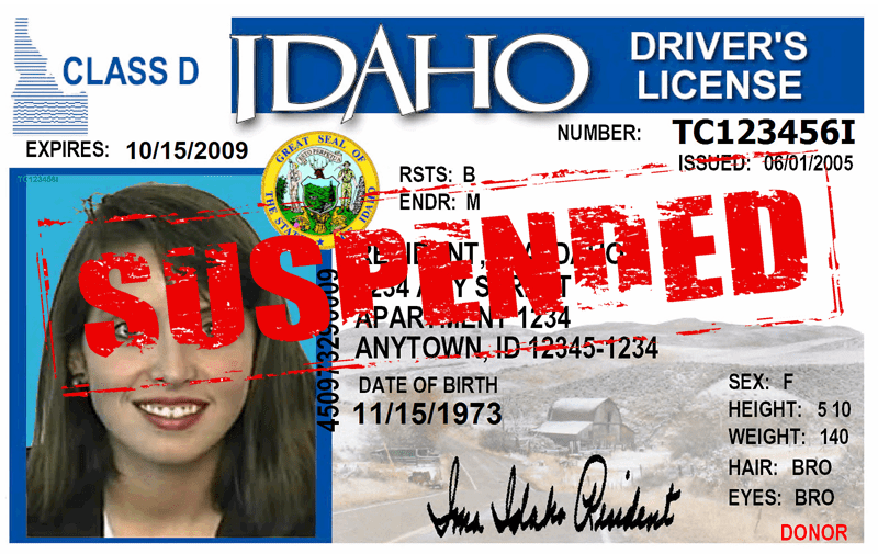 Suespended Idaho Drivers License